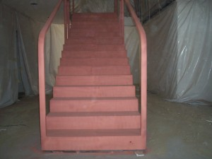 Metalizácia schodiska meďou (2)